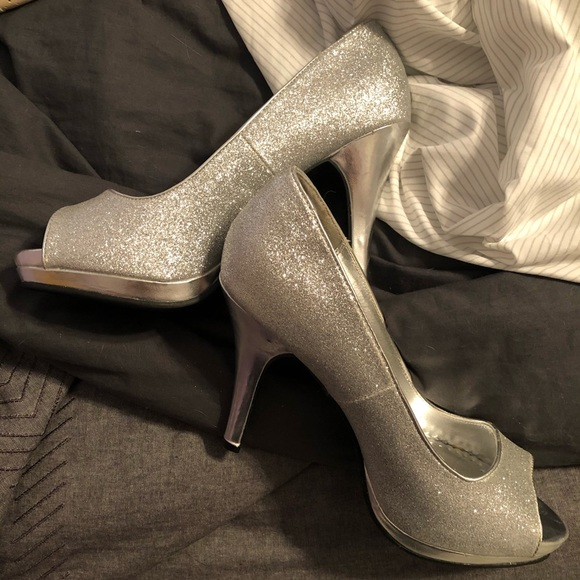 Rampage Shoes - Silver Glitter Heels